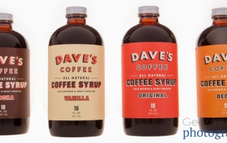 coffee syrup bottles