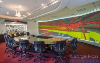 corporate photograph of a conference room screen