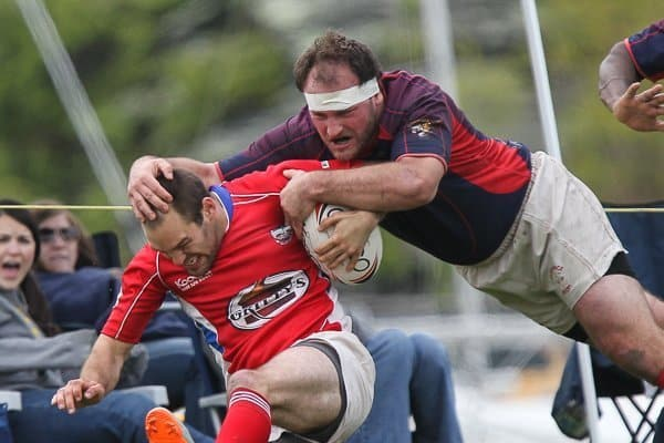 high tackle in a rugby game