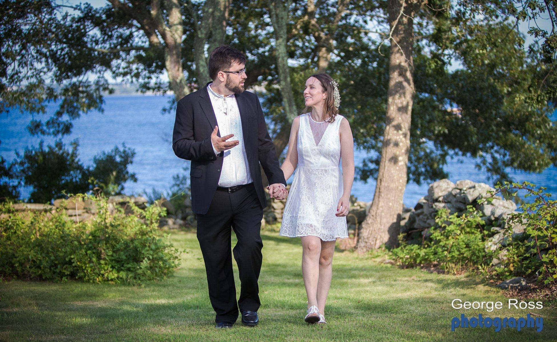 Wedding photography: Back Yard Wedding, Jamestown, Rhode Island