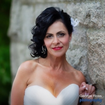Beautiful close up photo of a bride photographed with a lot of blur