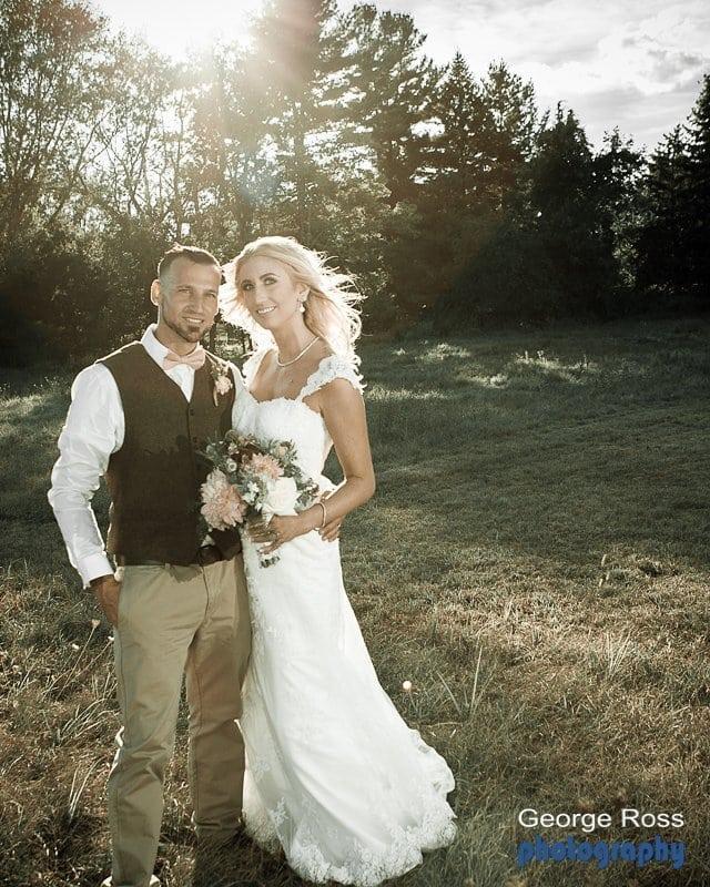 Mike and Joanne's rustic backyard wedding