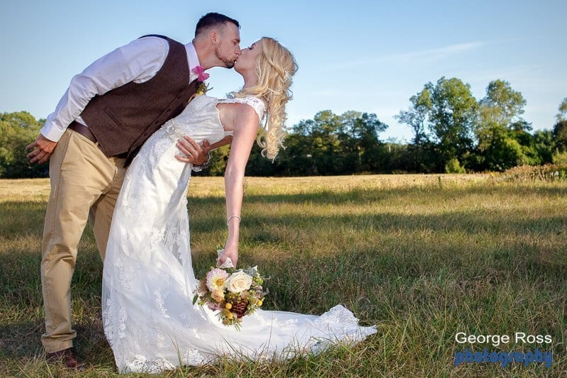 Mike and Joanne's rustic backyard wedding