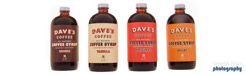 Coffee syrup bottle