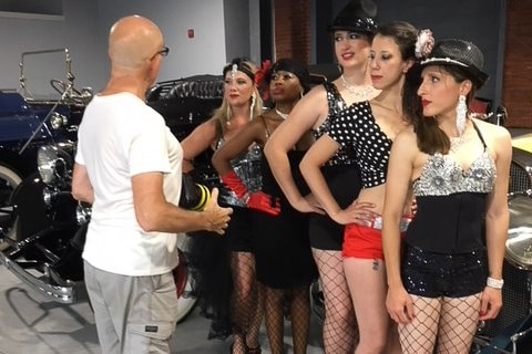 George Ross working with the fringe follies