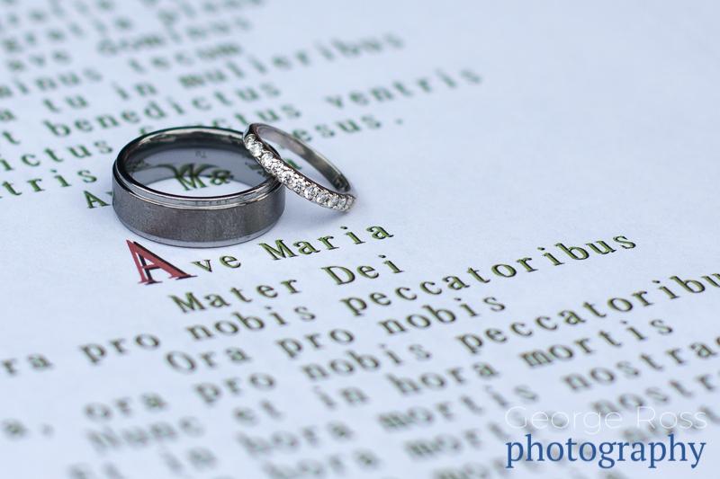 wedding rings pn a song sheet