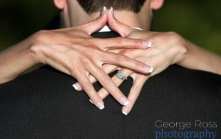 wedding ring on brides hands