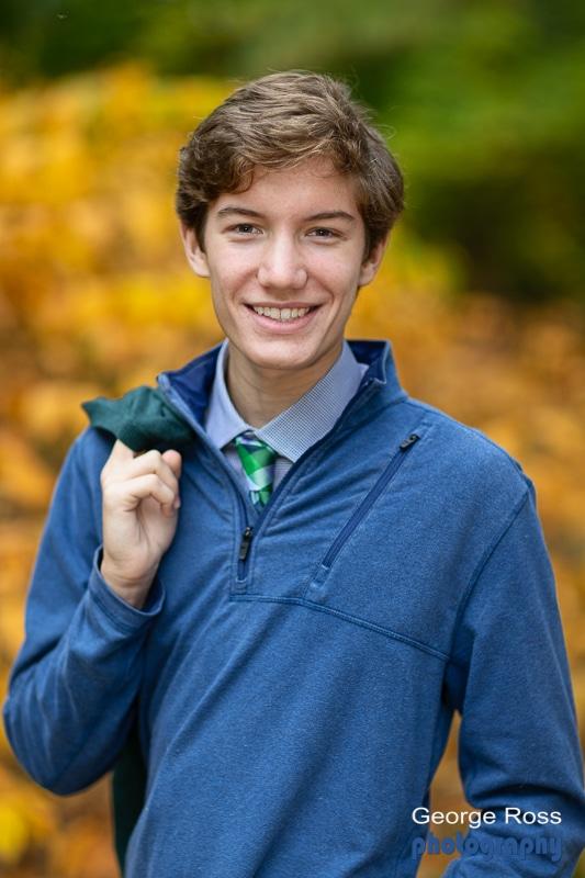 high school senior, boy, infant of a yellow bush