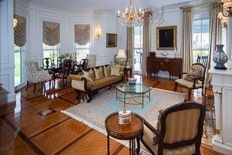 Beautiful interior of a condo on Bellevue Avenue, Newport, Rhode Island