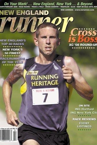 runner on the cover of New England Runner magazine