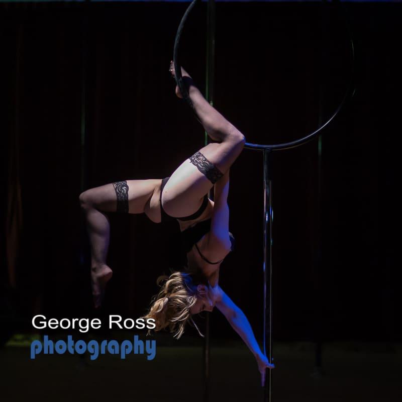 Lyra hoop performer