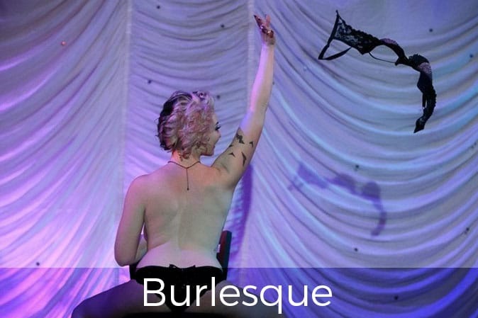 naked women on chair throws her bra in the air, Burlesque Photography