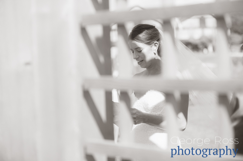 artistic photo of bride during the wedding ceremony
