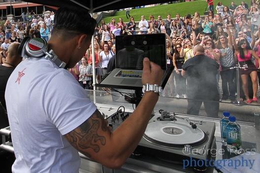 DJ Paulie D performing in providence