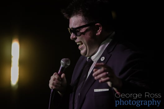 comedian mikey performing at aurora bar in providence
