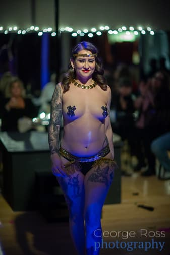 siren of the circle, burlesque dancer