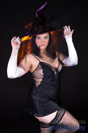 boudoir photo of tattoo'd woman