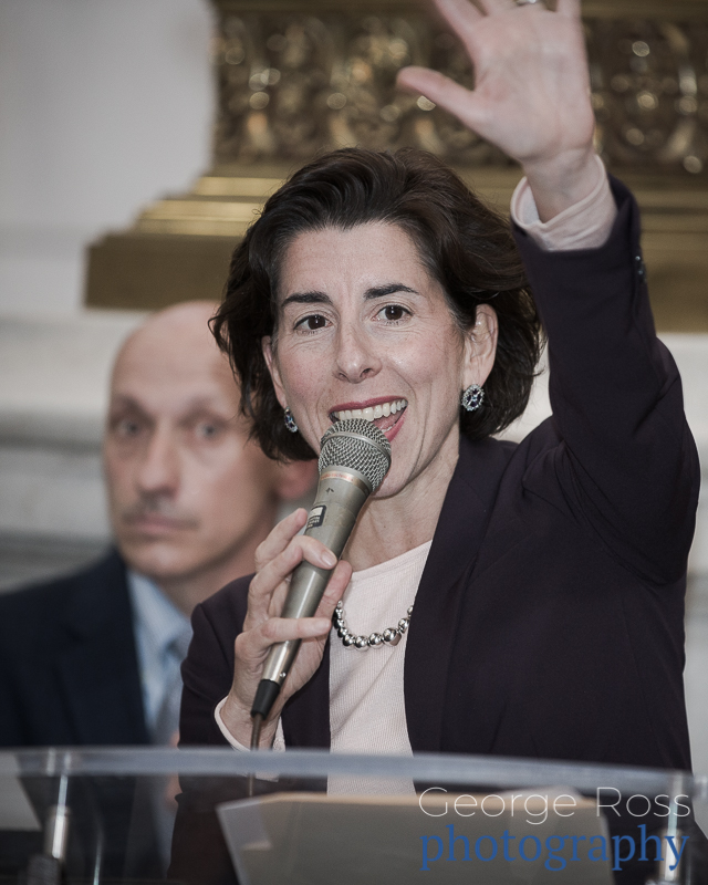 Governor Gina Raimondo at Rally To Restore Funding To People With IDD, 2018