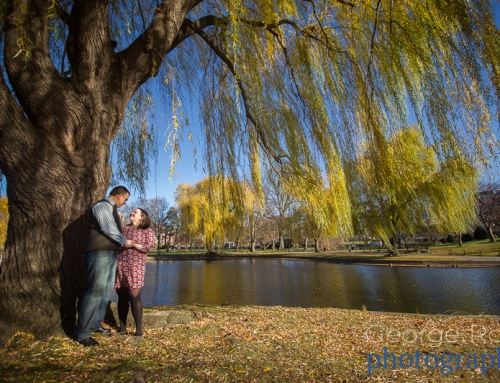 Engagement Photoshoot on Acorn Street and Boston Common