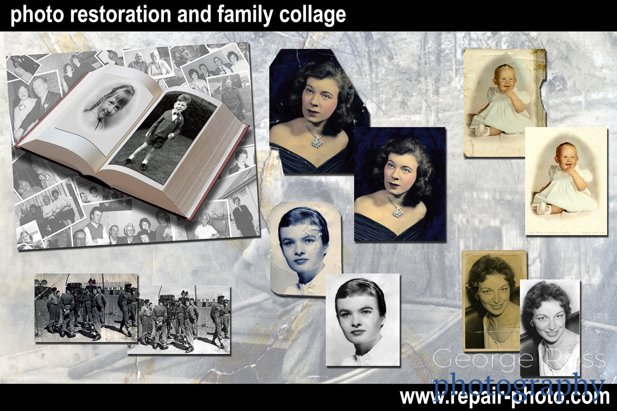 photo restoration promotional poster