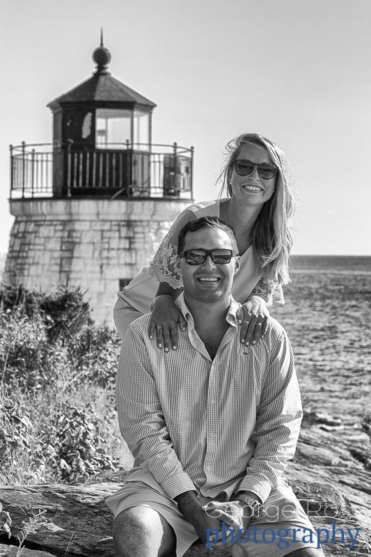 rhode island proposal photographer at castle hill hotel, newport, ri