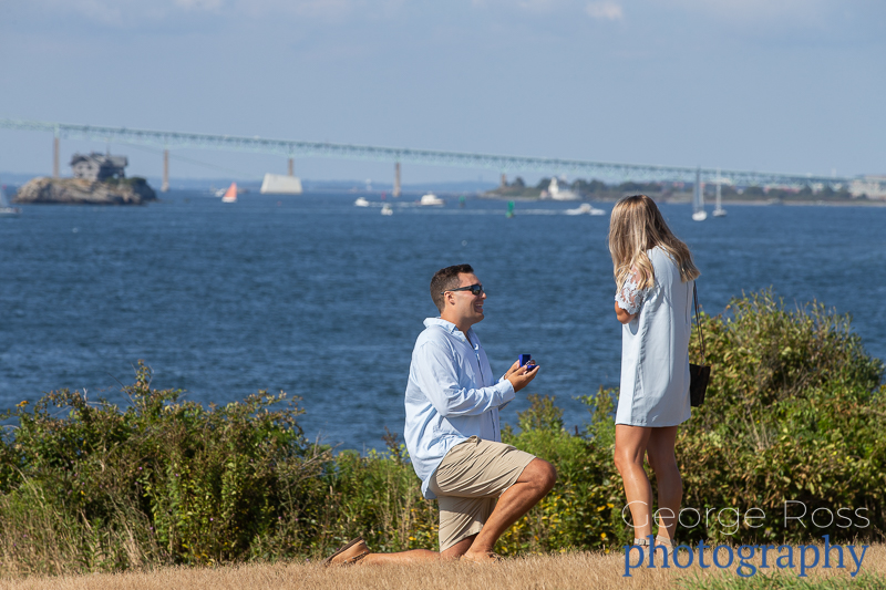 Jason's Proposal at the Castle Hill Hotel, Newport, Rhode Island