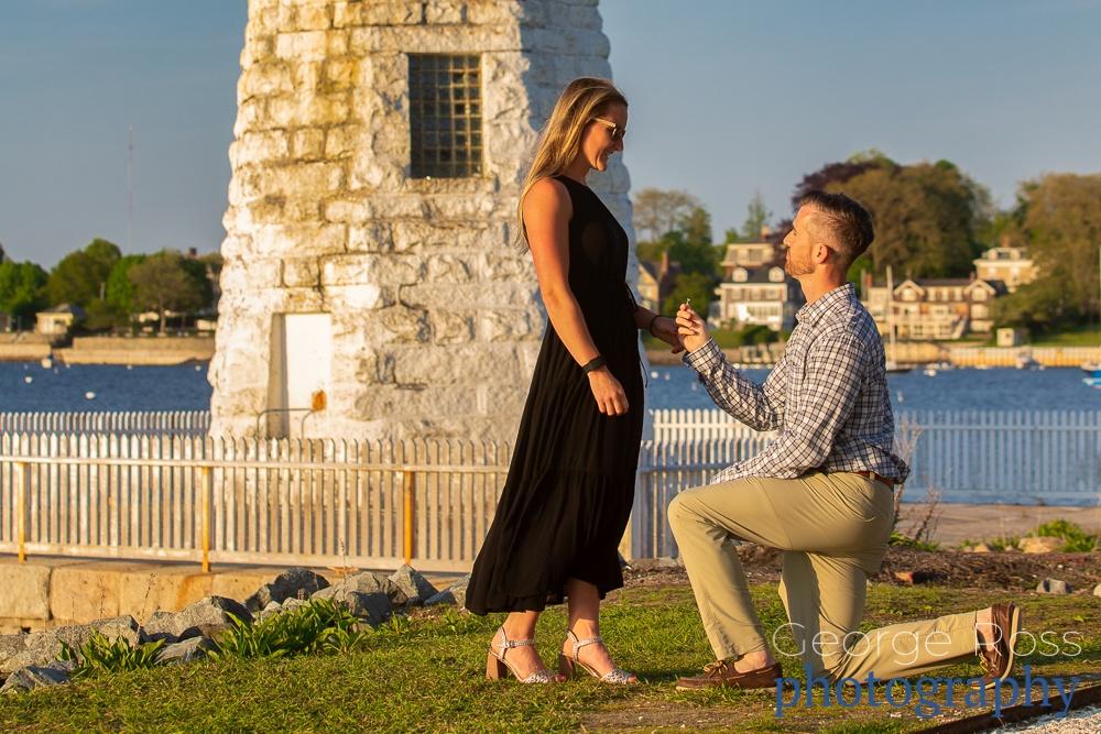 surprise proposal goat island, rhode island