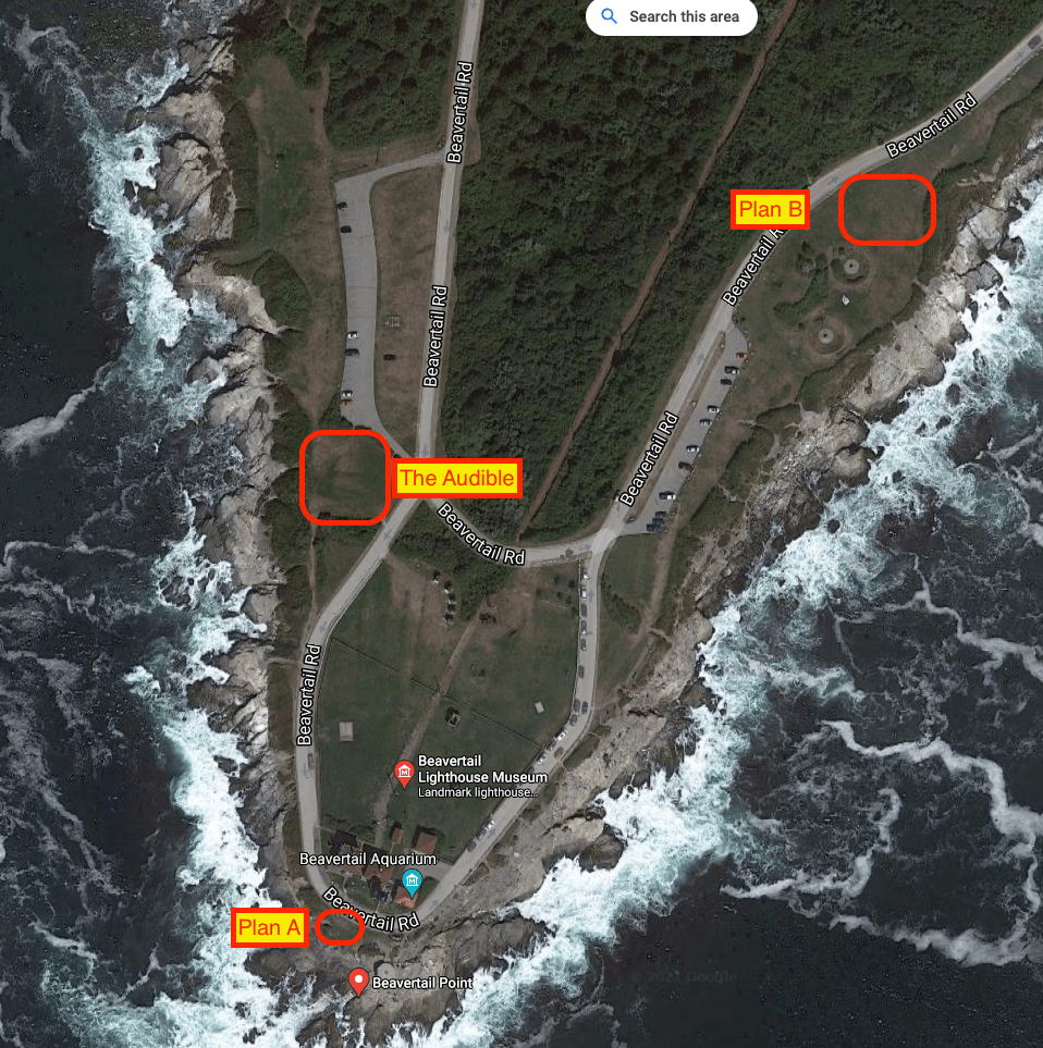 Surprise proposal location, beavertail, rhode island