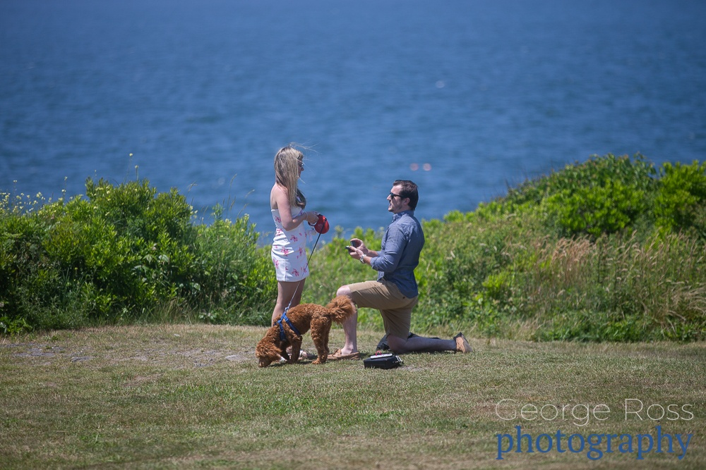 a surprise proposal in newport, rhode island