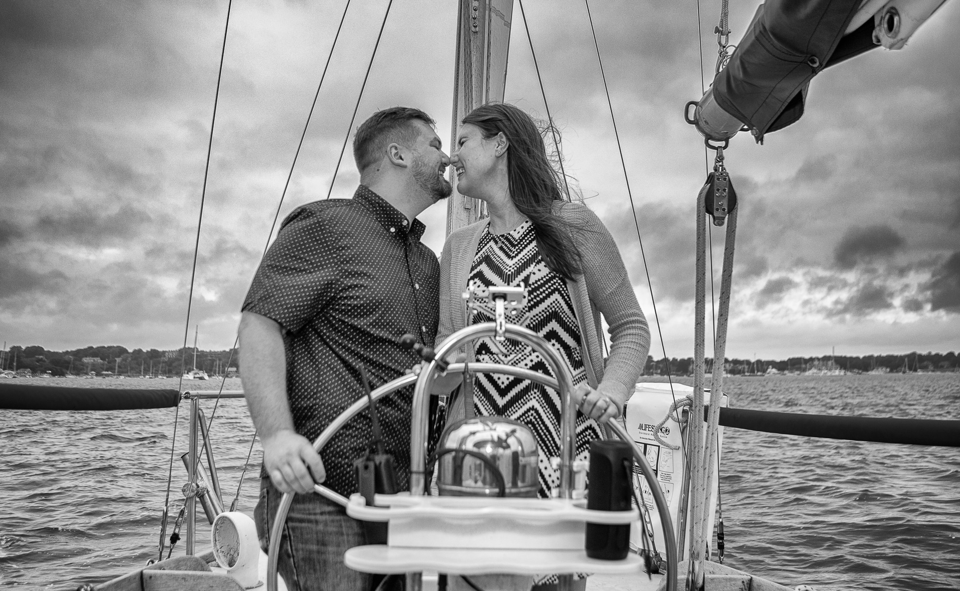 A surprise proposal on a yacht in newport, rhode island