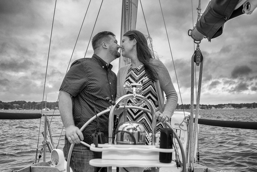 A Surprise Proposal on a Yacht Cruise in Newport, RI