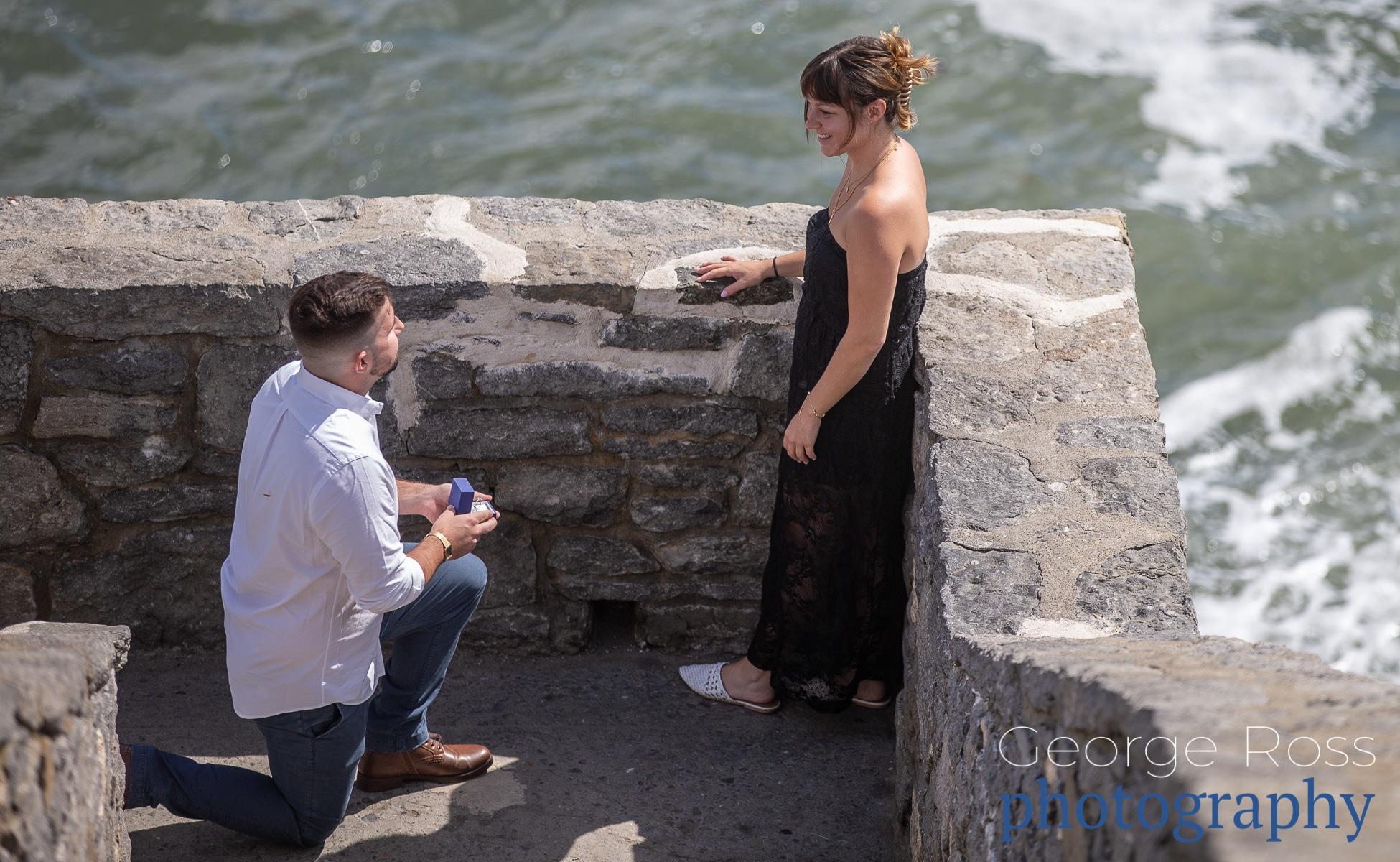 rhode island suprise proposal cliff walk