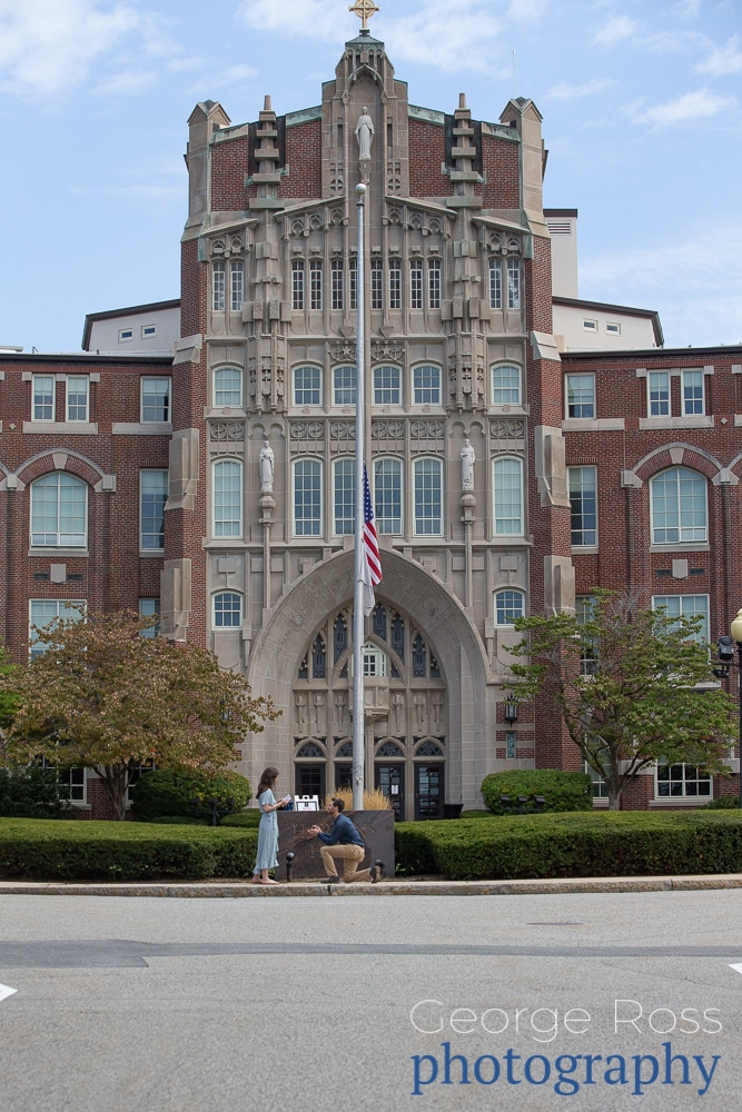 rhode island surprise proposal at providence college